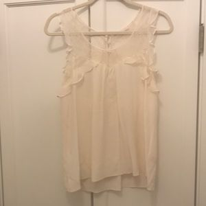 Rebecca Taylor Pale Pink Blouse with Lace Detail